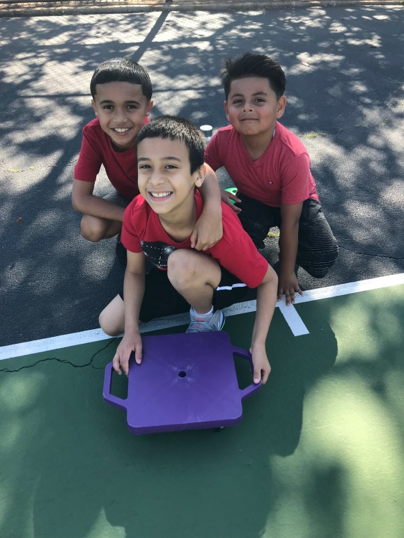kids in the yard