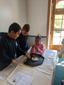students making a discovery