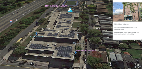 google earth flyover view of school